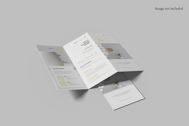 Makieta broszury potrójnej perspektywy