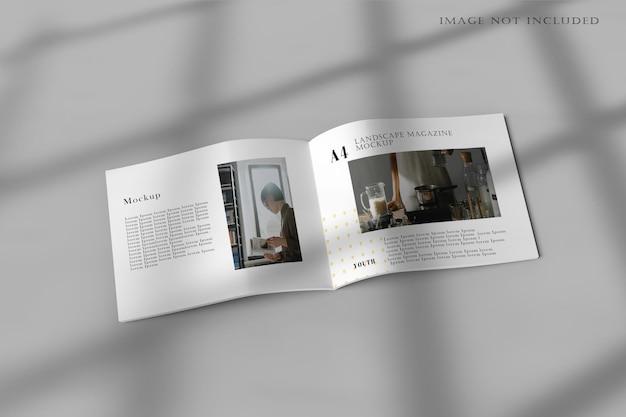 Makieta broszury poziomej a4