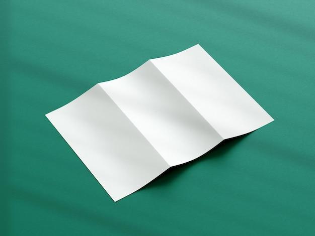 Makieta broszury składanej na trzy części