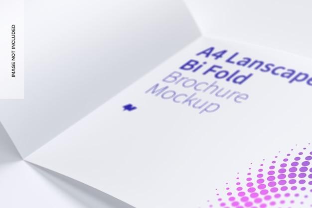 Makieta broszury składanej w poziomie