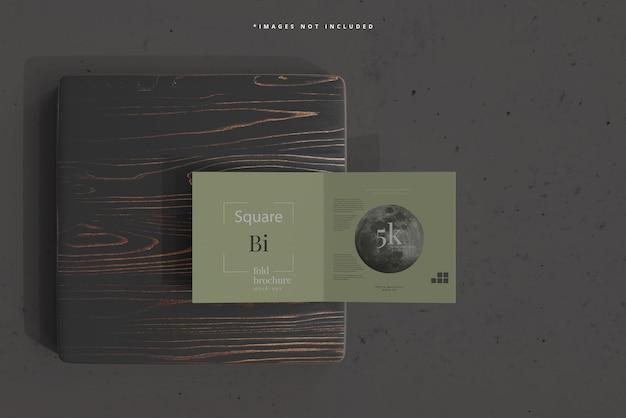 Makieta broszury square bi fold
