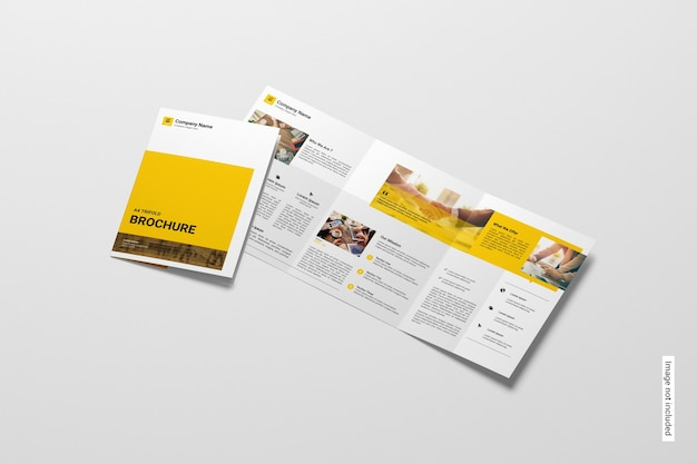 Makieta broszury trifold