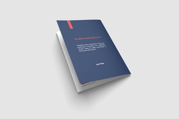 Makieta broszury tylnej okładki a4