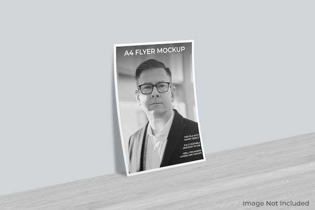 Makieta broszury ulotki na białym tle