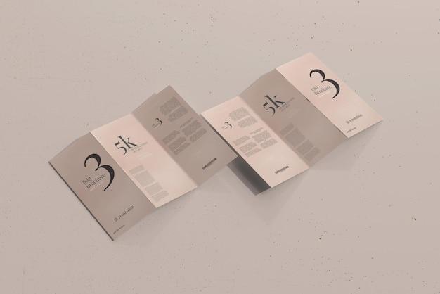 Makieta broszury w rozmiarze dl trifold