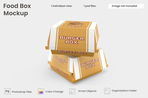 Makieta burger box premium psd