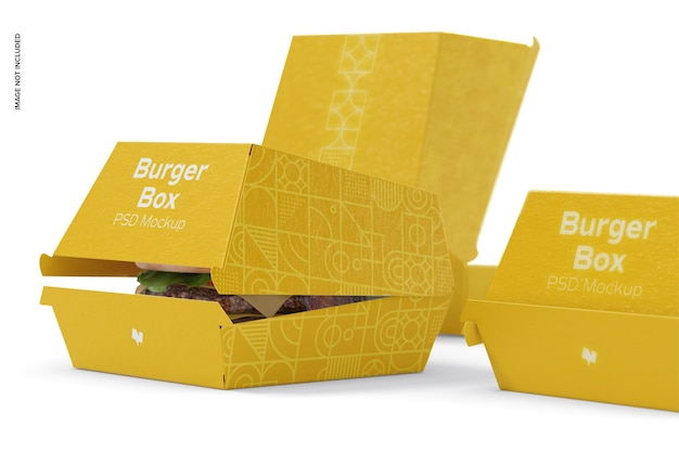 Makieta burger boxes