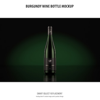 Makieta burgundowej butelki wina