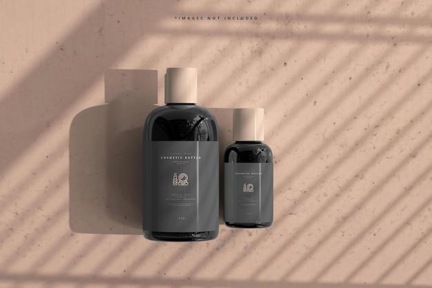 Makieta butelek kosmetycznych
