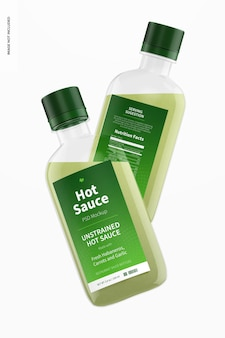 Makieta butelek na gorący sos o pojemności 100 ml 100