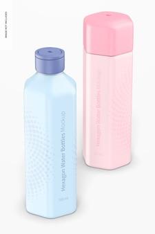 Makieta butelek na wodę hexagon 700 ml