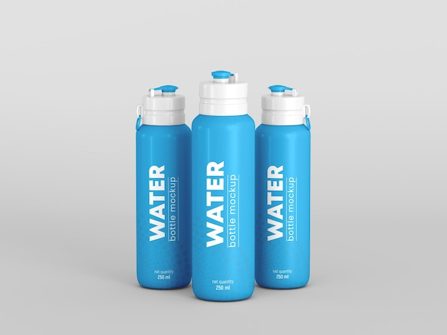 Makieta butelek na wodę