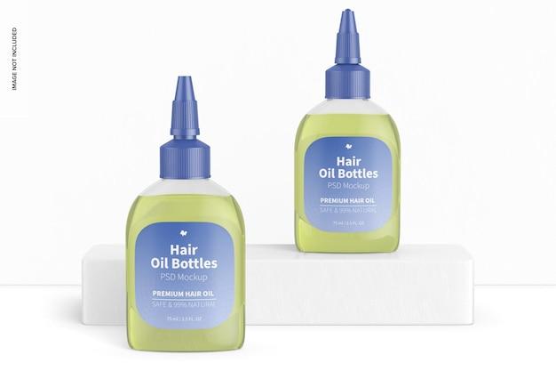 Makieta butelek oleju do włosów
