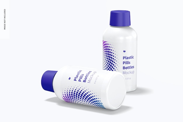 Makieta butelek plastikowych tabletek