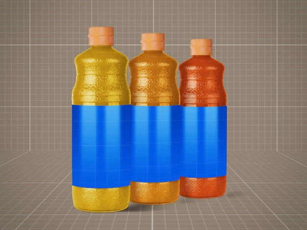 Makieta butelek soku