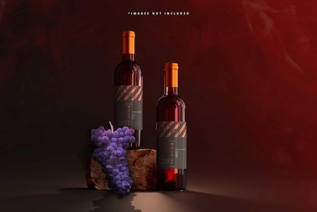 Makieta butelek wina