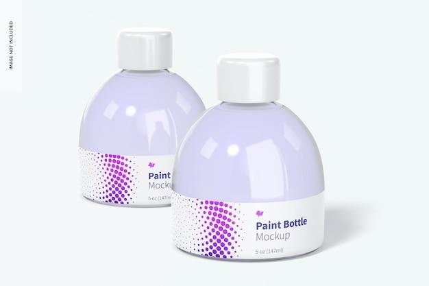 Makieta butelek z farbą 5 uncji, perspektywa