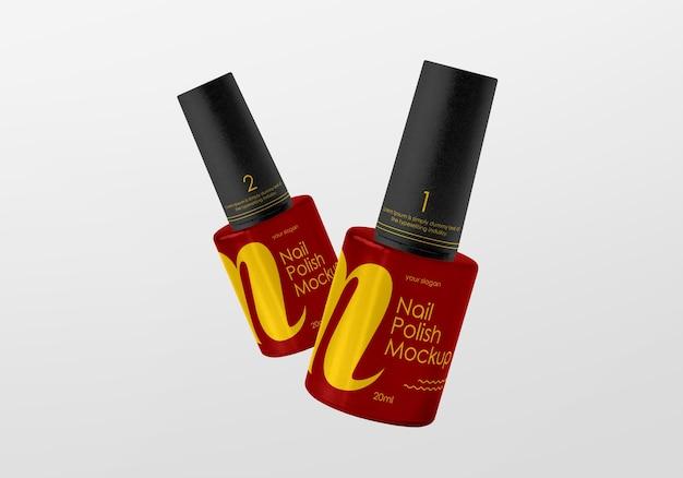 Makieta butelek z lakierem do paznokci