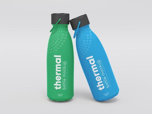 Makieta butelek z wodą termalną