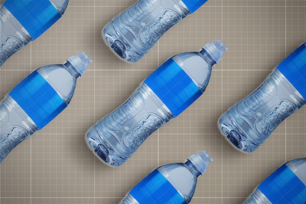 Makieta butelek z wodą