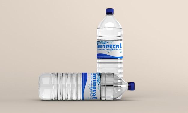 Makieta Butelka Wody Premium Psd