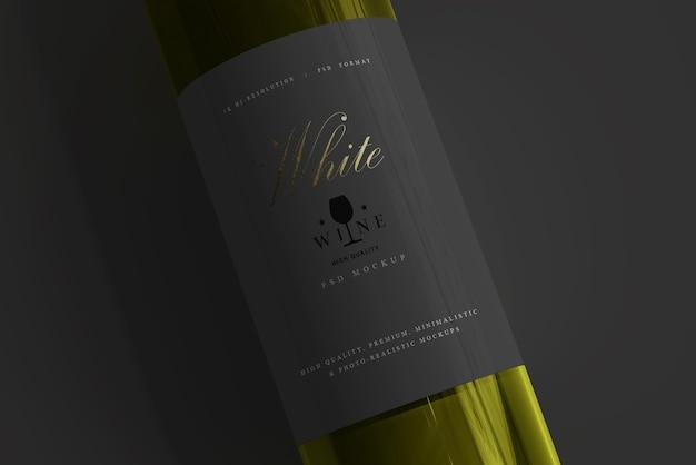 Makieta butelki białego wina