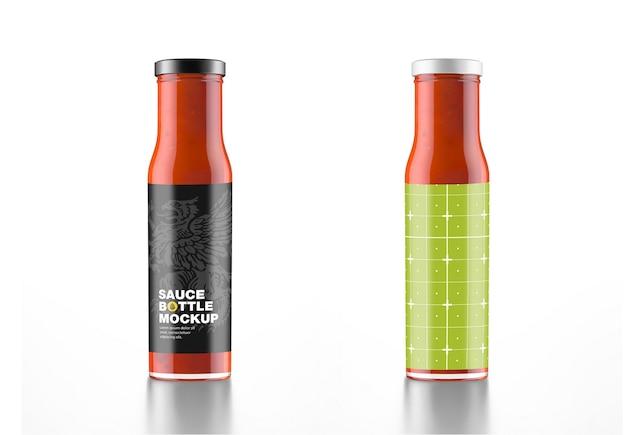 Makieta butelki czerwonego sosu