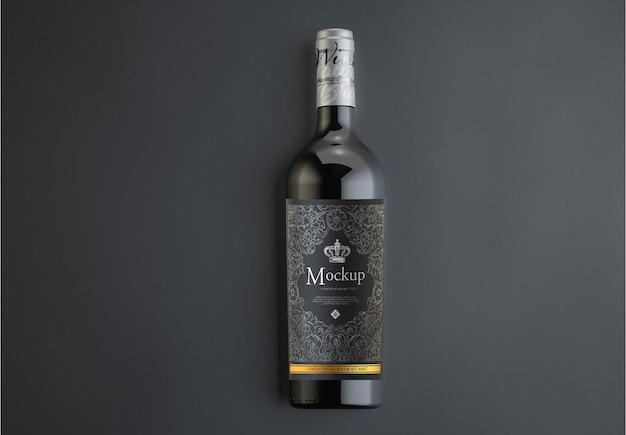 Makieta butelki czerwonego wina