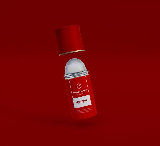 Makieta butelki dezodorantu psd premium