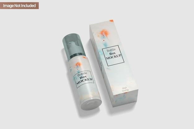 Makieta butelki do dezynfekcji rąk na białym tle