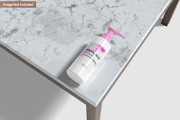 Makieta butelki do dezynfekcji rąk