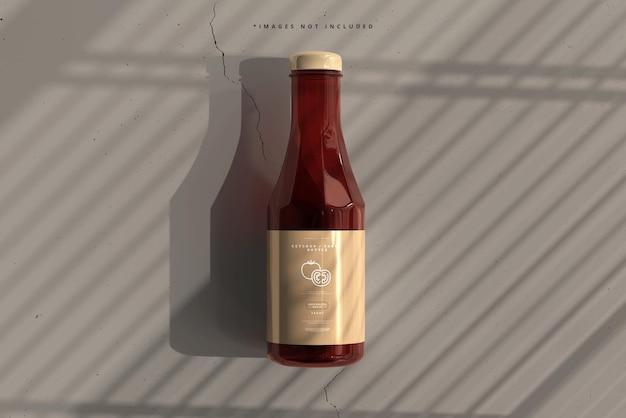 Makieta butelki keczupu lub sosu
