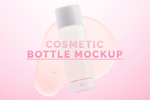 Makieta butelki kosmetycznej psd gotowe do użycia opakowanie do pielęgnacji skóry