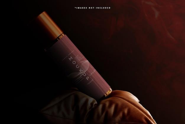 Makieta butelki kosmetycznej z bursztynowego szkła