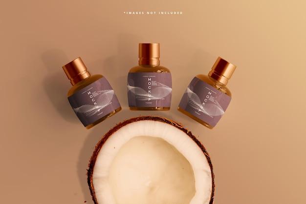 Makieta Butelki Kosmetycznej Z Bursztynowego Szkła Darmowe Psd