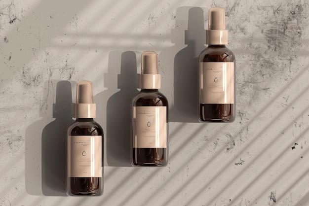 Makieta butelki kosmetycznej ze szkła bursztynowego