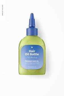 Makieta butelki oleju do włosów, widok z góry