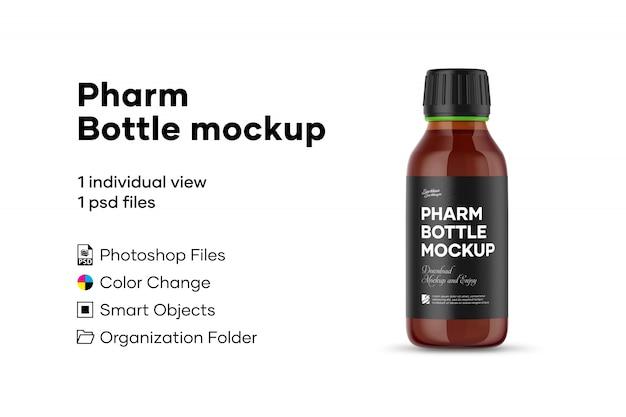 Makieta butelki pharm