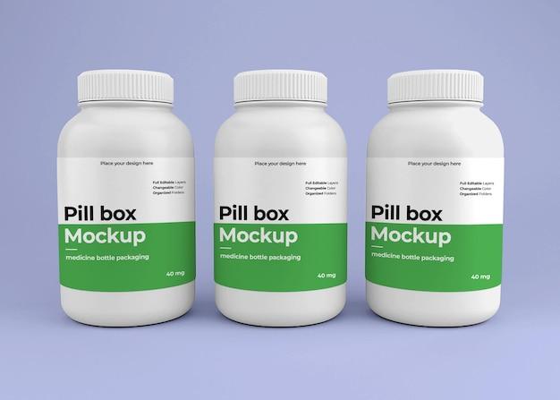 Makieta butelki pigułki leku z koncepcją apteki