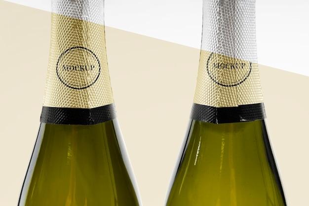 Makieta butelki szampana z bliska