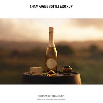 Makieta butelki szampana