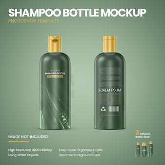 Makieta butelki szamponu
