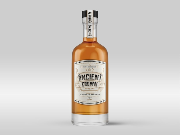 Makieta Butelki Whisky Premium Psd