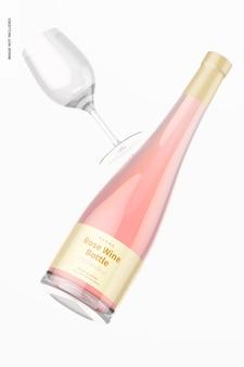 Makieta butelki wina różowego, pływająca
