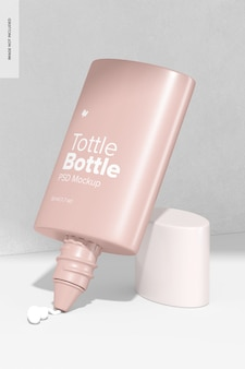 Makieta butelki z butelką, otwarta