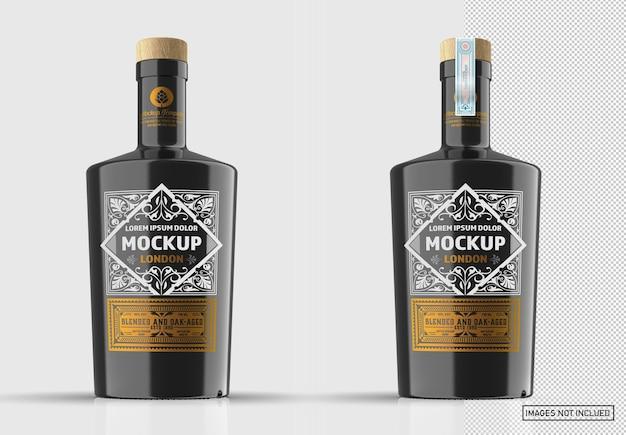 Makieta butelki z czarnego szkła