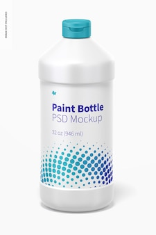 Makieta butelki z farbą o pojemności 32 uncji