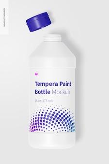 Makieta butelki z farbą tempera 16 uncji, otwarta
