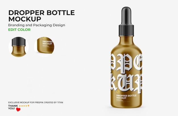 Makieta butelki z kroplomierzem