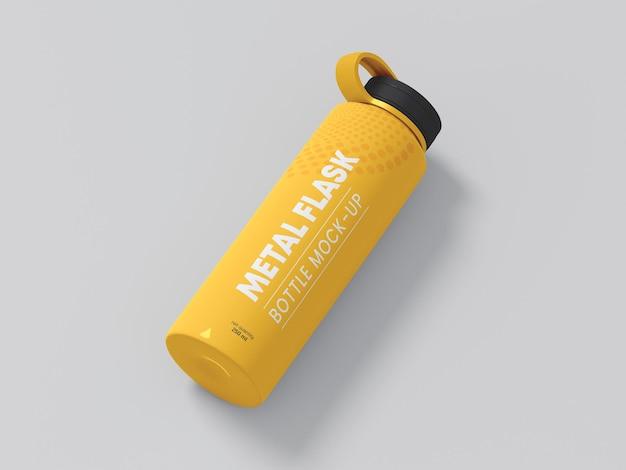 Makieta butelki z metalową kolbą